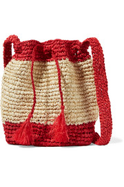 Jinga raffia shoulder bag