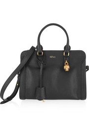 Alexander McQueen Padlock small textured-leather shoulder bag