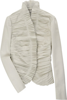 Valentino | Ruffled-leather jacket | NET-A-PORTER.COM from net-a-porter.com