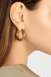 20th-Century Bulgari 18-karat gold hoop earrings