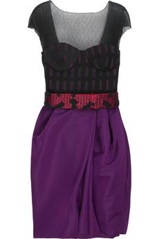 Jason WuTulle and silk-taffeta mini dress