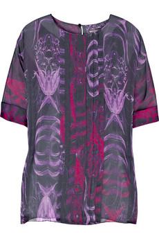 Jason WuPrinted silk-chiffon top
