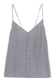 Capri printed washed-silk camisole
