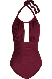 Ruched cutout swimsuit
