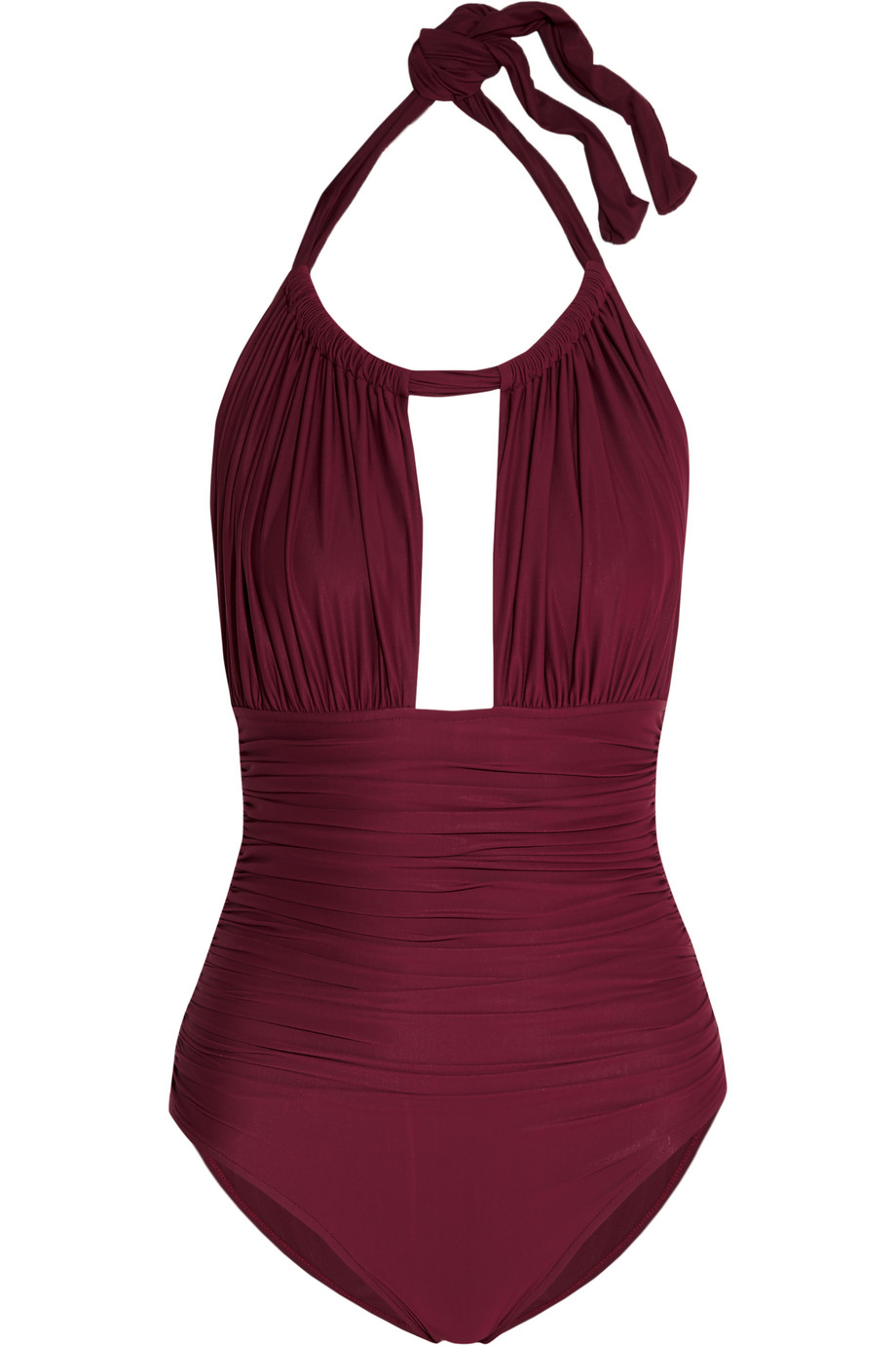 Ruched Cutout Swimsuit, Burgundy, Women's, Size: M