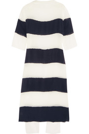 Striped georgette dress