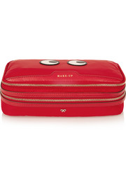 Anya Hindmarch Make Up leather-trimmed cosmetics case