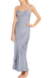 Carine Gilson Printed silk-satin nightdress