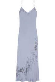 Printed silk-satin nightdress