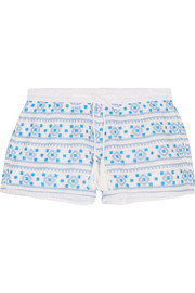 Carolina embroidered cotton shorts