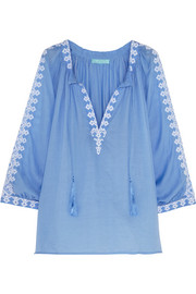 Anastasia embroidered voile top