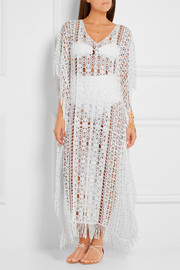 Melissa Odabash + Julien Macdonald Artemis crocheted cotton kaftan