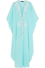 + Julien Macdonald Theia embellished silk kaftan