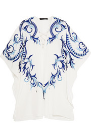 + Julien Macdonald Eos embroidered silk kaftan