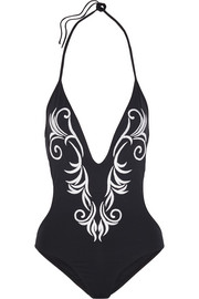 + Macdonald Leto embroidered swimsuit