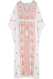 Jackie embroidered voile kaftan