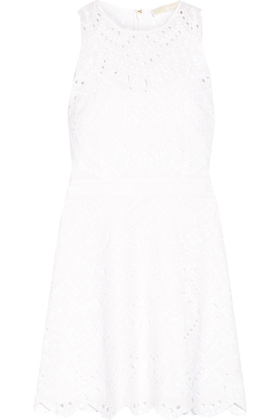 Broderie Anglaise Cotton Mini Dress, Michael Michael Kors, Ivory, Women's, Size: 16