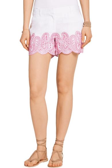 MICHAEL Michael Kors. Broderie anglaise linen shorts