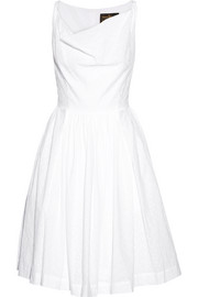 Twisted Monroe eyelet-cotton dress