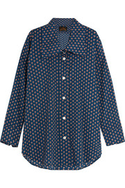 Dryad oversized printed cotton-poplin shirt