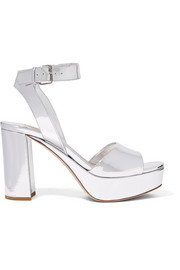 Miu Miu Mirrored-leather platform sandals