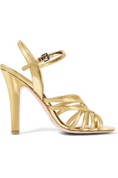 28cbe88b37e Miu Miu. Metallic leather sandals