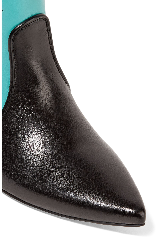 Miu Miu Ayers-appliquéd leather boots