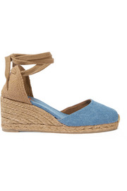 Carina denim wedge espadrilles