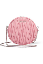 Circle matelassé leather shoulder bag