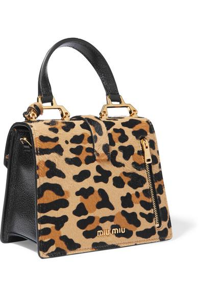 Miu Miu Leopard Print Bag