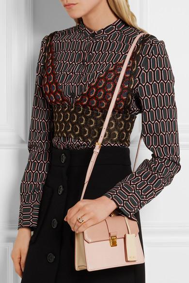 d54cb1bf609 Miu Miu. Madras mini textured-leather shoulder bag