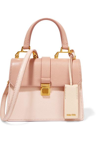 d6bb9c0ad202 Miu Miu. Madras mini textured-leather shoulder bag