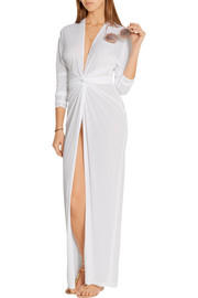Norma Kamali Crepe de chine wrap dress
