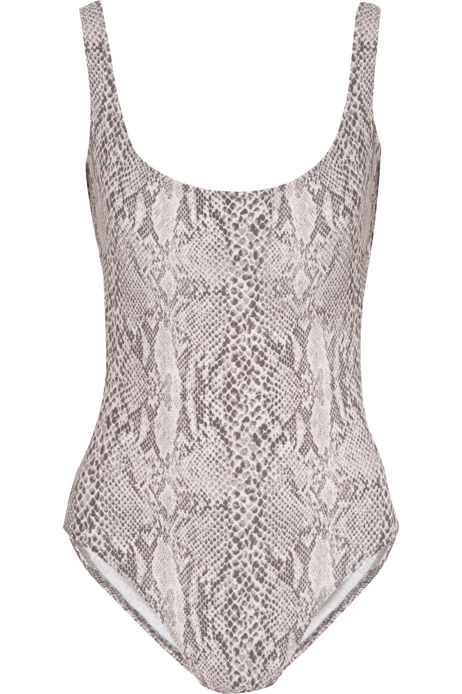 Norma Kamali Snake-Print Swimsuit, Snake Print/Beige, Women's, Size: XS