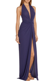 Norma Kamali Convertible jersey halterneck wrap dress