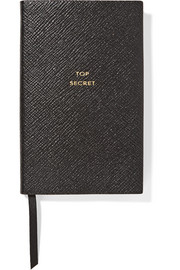 Top Secret textured-leather notebook