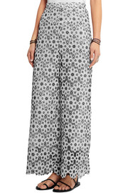 Zimmermann Empire guipure lace wide-leg pants