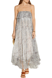 Empire Mist ruffled silk-blend georgette maxi dress