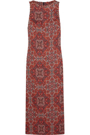 Konya printed linen maxi dress