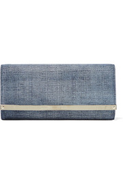Jimmy Choo Milla denim clutch