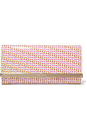 Milla polka-dot patent-leather clutch