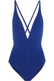 Cutout plunge swimsuit