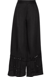 Peggy embroidered voile pants