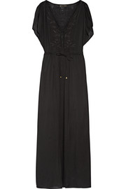 Vix Agatha embroidered voile maxi dress