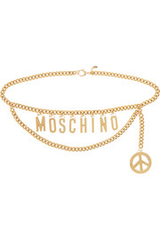 Moschino Embellished gold-tone belt