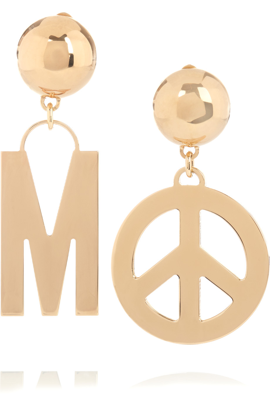 Moschino Gold-Plated Clip Earrings, Women's