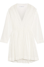 Leonore broderie anglaise mini dress