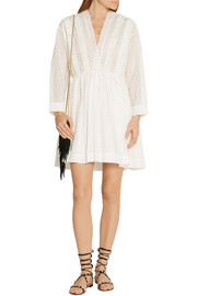 IRO Leonore broderie anglaise mini dress