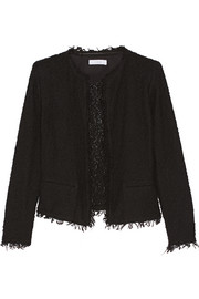 Shavani fringed cotton-blend bouclé jacket
