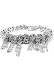 Knotted Chain silver-tone bracelet